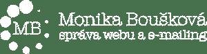Monika Boušková | Správa webu a e-mailingu – logo s textem